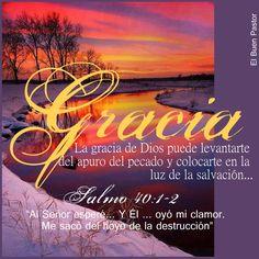 Salmo 40:1-3 Pacientemente esperé a Jehová, y se inclinó a mí, y oyó mi clamor. Y me hizo sacar del pozo de la desesperación, del lodo cenagoso; puso mis pies sobre peña, y enderezó mis pasos. Puso luego en mi boca cántico nuevo, alabanza a nuestro Dios.♔