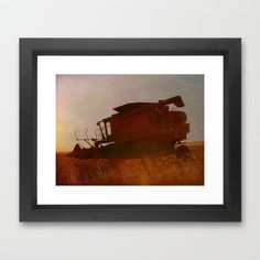 Combine Framed Art Print by Cassie Peters - $31.00