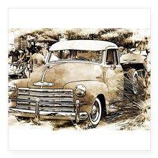 Classic Chevrolet Pick-up Truck Sticker