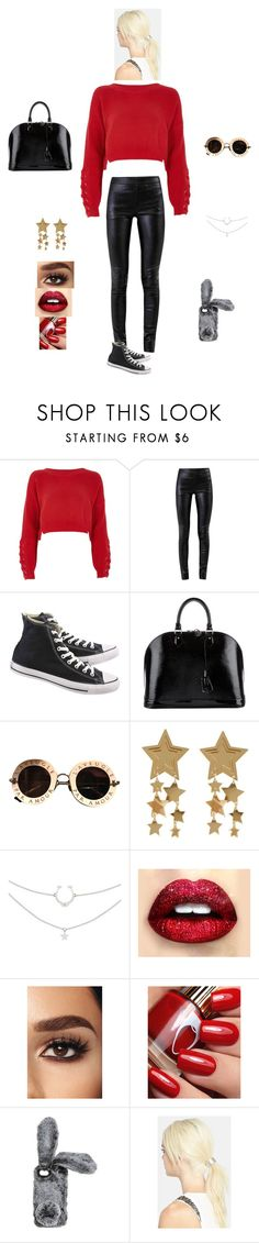 """K B M A C"" by queen-kaitlyn ❤ liked on Polyvore featuring River Island, Helmut Lang, Converse, Louis Vuitton, Gucci and L. Erickson"