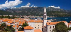 Budva, Montenegro for a tremendous seafood dinner.
