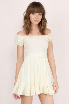 Dresses, Tobi, Cream Camillia Skater Dress
