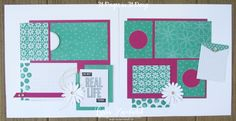 31 pages days scrapbooking summer school spread layout pages daisies daisy delight punch stampin up Lyssa