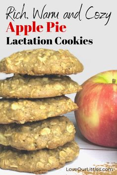 A rich, warm and cozy lactation cookie that is reminiscent of apple pie. The per… A rich, warm and cozy lactation cookie that is reminiscent of apple pie. The perfect breastfeeding recipe for fall! Baby Food Recipes, Fall Recipes, Cookie Recipes, Breastfeeding Cookies, Breastfeeding Tips, Lemon Biscuits, Best Apple Pie, Lactation Recipes, Easy Lactation Cookies