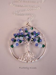 Custom Birthstone Tree of Life Pendant / by FlutterbyKissis, $45.00