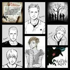 The Raven Boys. I love this book.  Noah, Adam, Blue, Gansey & Rowan
