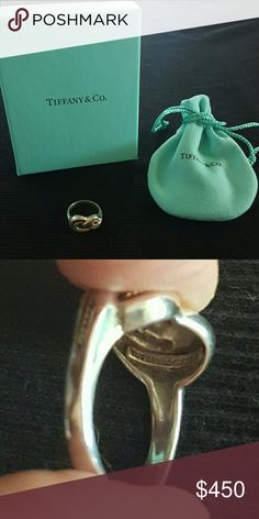 "Tiffany and Co. Angela Cummings ""Pretzel"" Ring *VINTAGE, RETIRED AND VERY RARE* Absolutely immaculate collector's item.. an early 1980's Tiffany and Company Angela Cummings 18kt Gold and .925 ""Pretzel"" ring. Size 5.5 to 6. Does not come with original box and pouch due to age, but I have an extra courtesy set to provide! Tiffany & Co. Jewelry Rings"