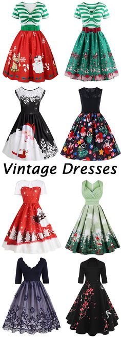 50% OFF Christmas Vintage Dresses,Free Shipping Worldwide