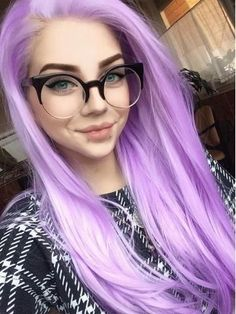 Crazy Colour Hair Dye, Hair Color, Violet Hair, Purple Hair, Synthetic Lace Front Wigs, Synthetic Wigs, Coloured Hair, Front Lace, Hairline