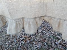 Ruffled Burlap Curtain Farmhouse Kitchen Window Treatment Burlap Panel Rustic Curtain French Country Made to Order. $38.00, via Etsy.
