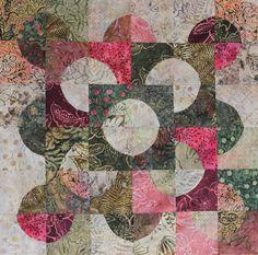drunkard's path quilt pattern variations | Drunkard's Path variation