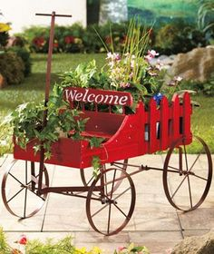 Found It At Wayfair   Flower Garden Wagon Planter | Industrial Furniture |  Pinterest | Wagon Planter, Garden Wagon And Planters