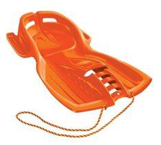 Zipfy Classic Freestyle Luge Hero Orange Two-Toned Snow Sled