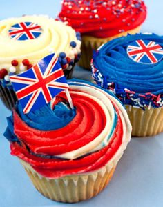 British cupcakes for the Queen's Jubilee!