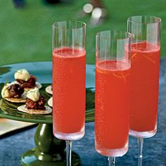 This drink is a twist on the classic Bellini, a post–World War II cocktail of white peach puree and Champagne, first mixed at Harry's Bar in Venice. Freezing the watermelon before pureeing lends the drink a slightly slushy consistency. If you prefer a smoother texture, simply chill the watermelon. Serve in Champagne flutes.