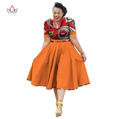 Online Shop Plus Size Clothing 2018 summer Dress African Print Dress Dashiki For Women Bazin Riche Vestidos Femme Dress Plus Size BRW African Formal Dress, Short African Dresses, African Print Dresses, African Attire, African Wear, African Fashion Ankara, African Print Fashion, Kente Dress, Shweshwe Dresses