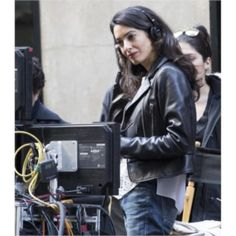 George Clooney's Wife Amal Alamuddin Black Leather Jacket  #leatherjackets #moviesleatherjackets #celebritiesleatherjackets