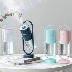 Portable Humidifier, Room Humidifier, Humidifier Essential Oils, Mini Office, Accessoires Iphone, Portable House, Led Night Light, Night Lights, Beach House Decor