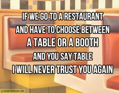 Its true!! I hate tables! So happy I'm not alone!!!