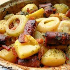 Dublin Coddle - Irish Sausage, Bacon, Onion and Potato Hotpot