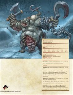 Abomination Dungeons And Dragons 5e, Dungeons And Dragons Homebrew, Dnd Characters, Fantasy Characters, Dnd Stats, Dnd 5e Homebrew, Dragon Rpg, Dnd Monsters, Night Elf