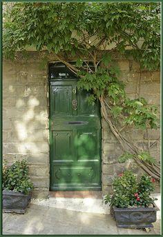 Green door no. 9, Var, Provence-Alpes-Cote d'Azur, France, photo by mhobl via Flickr