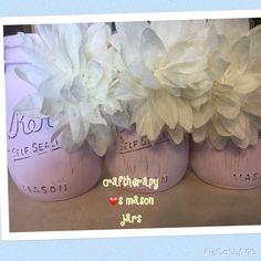 Pink chalk w/white flower $10 each