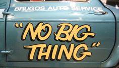 """""""No big thing"""""""