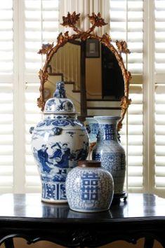 Modern Living Room Decoration Ideas Using Ginger Jars – Home Decor Ideas Design Blog, Home Design, Blue And White Vase, Blue Vases, Chinoiserie Chic, Blue China, Ginger Jars, White Houses, New Blue