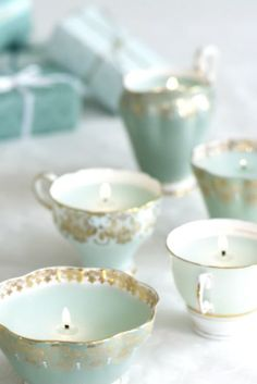 Great idea for those garage sale and flea market single teacups...cute one of a kind gift idea.