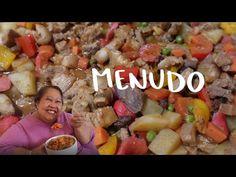 Filipino Pork Menudo Recipe | Home Cooking (& Talking) With Mama LuLu - YouTube Filipino Pork Menudo Recipe, Filipino Recipes, Mexican Food Recipes, Halo Halo, Pinoy Food, Pork Belly, Hot Dogs, The Creator