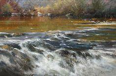 """Yuba River by Simon Addyman Oil ~ 24"""" x 36"""""""
