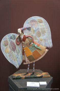 Fabric Dolls, Paper Dolls, Art Dolls, Handmade Angels, Ceramic Angels, Arte Country, Newspaper Crafts, Texture Art, Clay Crafts