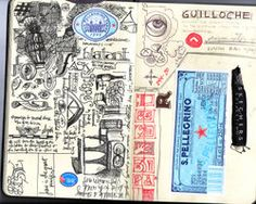 Moleskine Visual Journals: Moleskine journals are wonderful.  I wish mine looked like this!