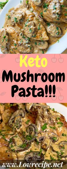 – Low Recipe Keto Pasta With Mushrooms ! Ketogenic Recipes, Low Carb Recipes, Diet Recipes, Healthy Recipes, Recipies, Keto Foods, Atkins Recipes, Keto Meal, Paleo Diet