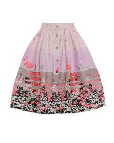 ee60eb1b0a95d Adalene  Pink Floral Japan Print Swing Skirt Swing Skirt, Quirky Fashion,  Vintage Fashion