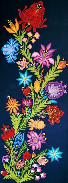 Floral folk design Folk Art, Floral, Painting, Design, Popular Art, Flowers, Painting Art, Paintings