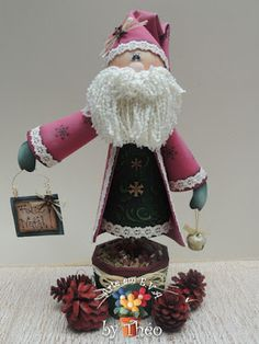 Santa Holiday Crafts, Holiday Decor, Christmas Decorations, Christmas Ornaments, Merry Christmas, Shabby Chic, Santa, Dolls, Biscuit