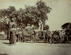 Group of State Elephants with Ceremonial Howdahs at Veranasi - ca.1865