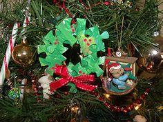 Plain Graces: Puzzle Christmas Wreath Craft