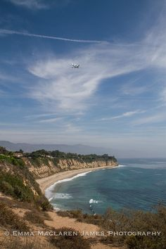 Space Shuttle Overhead: The View from Point Dume. Photo via the Malibu, CA Patch and Emma Maclaren James Photography.