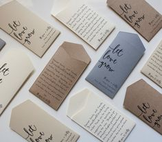 Kraft Let Love Grow Custom Seed Packet Wedding by Megmichelle