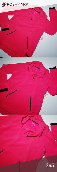 """CALVIN KLEIN • PULLOVER PERFORMANCE FLEECE NWT BRAND NEW WITH TAGS, CALVIN KLEIN PINK COWL NECK PERFORMANCE PULLOVER FLEECE. SUPER SOFT, COZY, AND SYLISH. PLENTY OF STRETCH, BUT ALSO IS SHAPE FORMING FOR A SLIMMING LOOK. LOVE THIS SWEATSHIRT WITH JEANS, OR YOGA PANTS. BLACK EMBOSSED LOGO ON BOTTOM FRONT. ONE OF MY FAVORITES! HIGH LOW STYLE LENGHTH, COVERS BACK SIDE.  LENGTH 24"""" FRONT 26.5"""" BACK.  BUST 19"""" BEFORE STRETCH. Calvin Klein Tops Sweatshirts & Hoodies"""