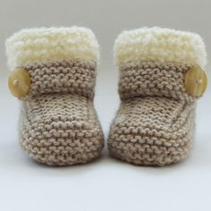 Strickanleitung Baby Booties Handgestrickte Baby Booties-Schuhe € 2019 Category: Babyschuhe stricken This image has get