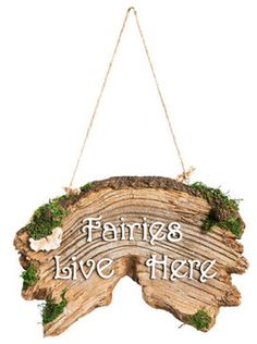 Forest Fairy Sign-Fairies Live Here