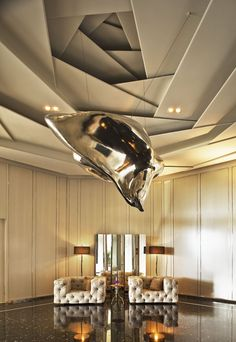 ceiling ideas? - not huge on the sculpture though. - Louise #bestdesignprojects