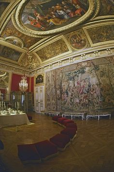 Antechamber for Grand Couvert Versailles Luís Xiv, Grand Parc, French Royalty, Hall Of Mirrors, Palace Garden, French History, Palace Of Versailles, European Home Decor, Antique Interior
