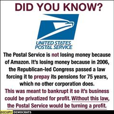 GOP LIES to close the Post Office...so that we can then pay f271d63d8fff