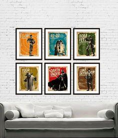 Star+Wars++C3PO++R2D2++Darth+Vader++Boba+Fett++by+PosterEmpire,+$65.00