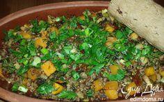 Гречка, томленая с тыквой, грибами, сельдереем и вялеными томатами | Кулинарные рецепты от «Едим дома!»